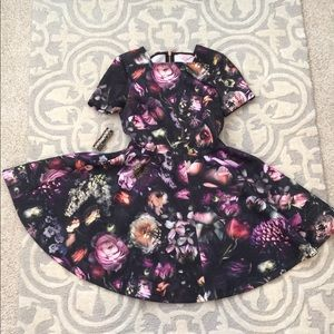 Ted Baker floral dress size 2; great condition